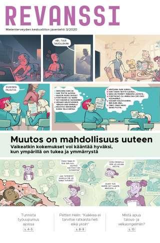 Mielenterveyden keskusliiton jäsenlehti Revanssi 3/2020, kansikuva