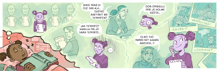 Miisa Lopperin piirtämä sarjakuva